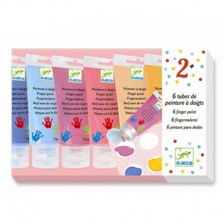 Fingermaling - 6 lyse farver - Djeco