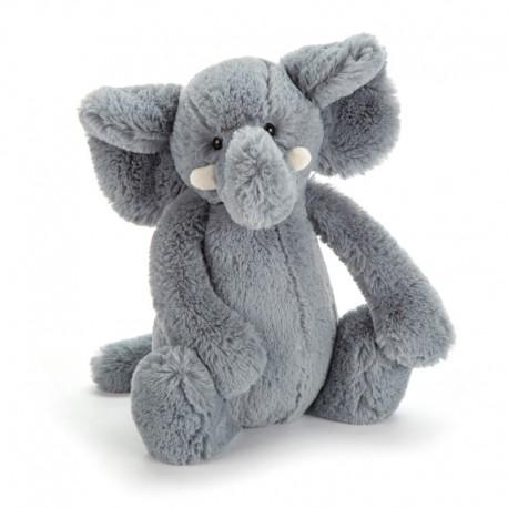 Grå elefant - Mellem bashful bamse - Jellycat