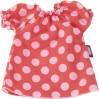 Rød kjole med pink prikker - Dukketøj (30-33 cm) - Götz