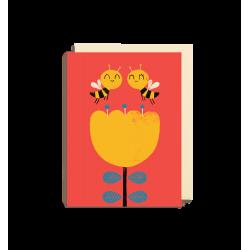 Søde bier - Lille kort & kuvert - Lagom