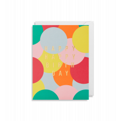 Happy Happy Birthday - Lille kort & kuvert - Lagom
