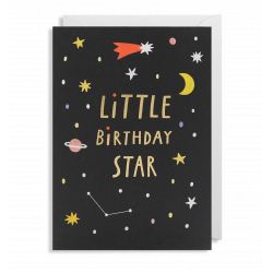 Little Birthday Star - Lille kort & kuvert - Lagom