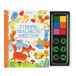 Stempel-malebog med dyr - Alvilda