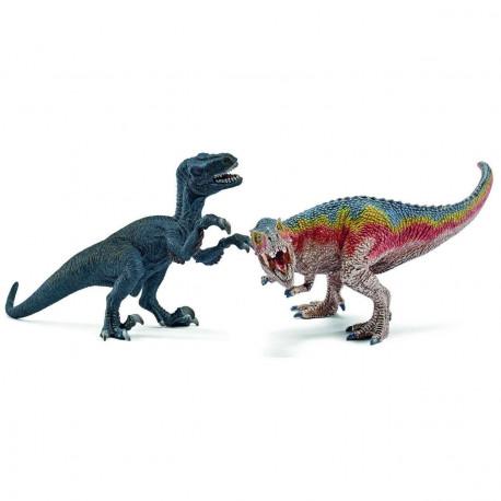 T-rex & Velociraptor - Dinosaur figurer - Schleich