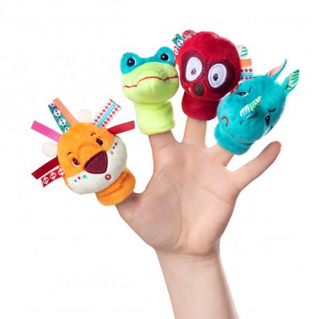 Junglens dyr - Sæt med 4 fingerdukker - Lilliputiens