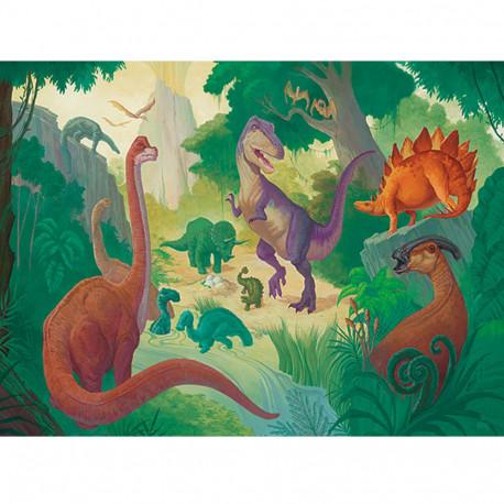 Dinosaurs - Puslespil & plakat - 100 brikker - Crocodile Creek