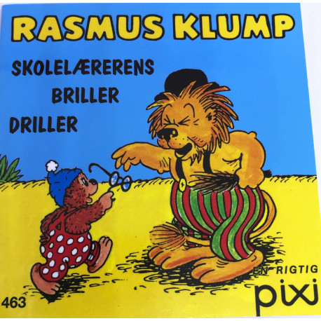 Rasmus Klump Skolelærens briller driller - Pixi bog - Carlsen
