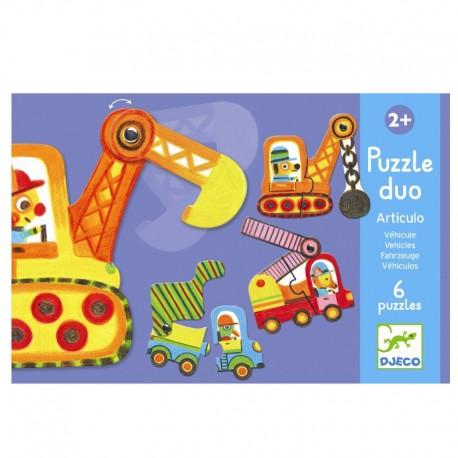 Køretøjer puslespil - Lærespil - Djeco