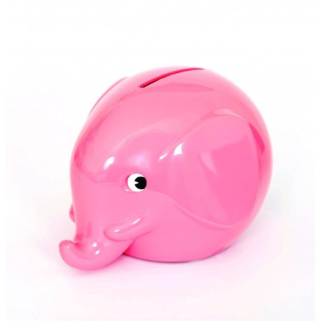 Lyserød elefant sparebøsse - Mini - Norsu