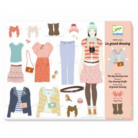 3 stk. påklædningsdukker & tilbehør - Djeco