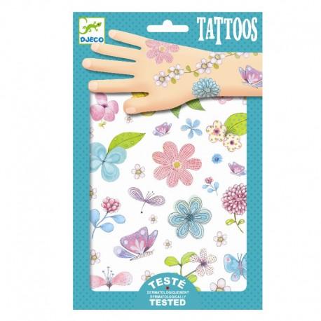 Smukke blomster - Tatoveringer - Djeco