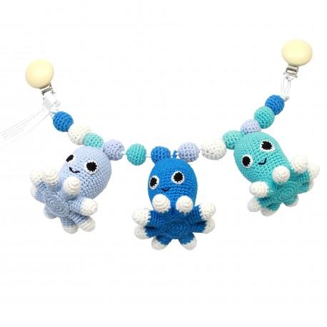 Blå blæksprutter - Barnevognsophæng - NatureZOO