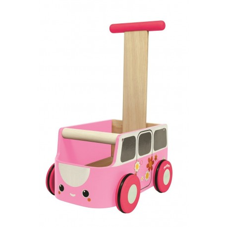 Plantoys gåvogn - Pink bus
