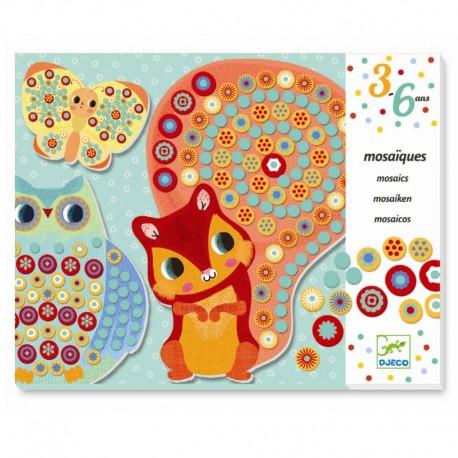 I skoven - Mosaiklegen - Djeco kreativ leg